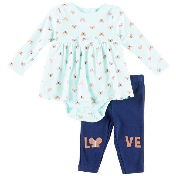 cd02c3b48 Weeplay Matching Sets | Baby Girls Butterfly Love Bodysuit Leggings ...